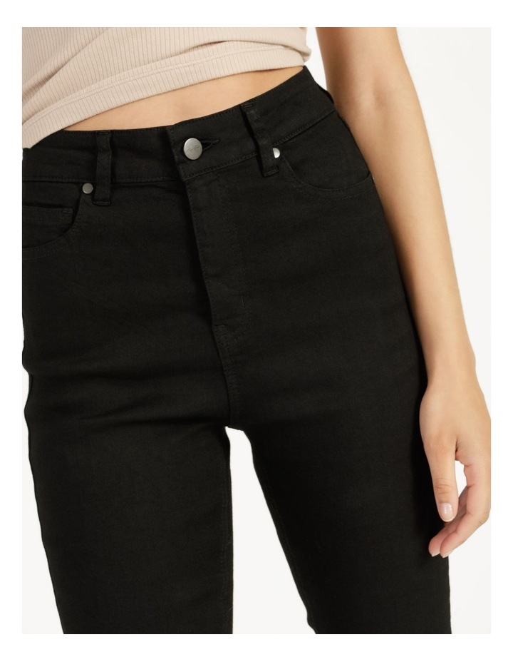 High Waist Black Skinny Jean image 5