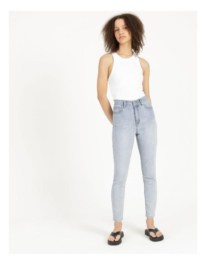 High Waist Light Blue Skinny Jean image 3