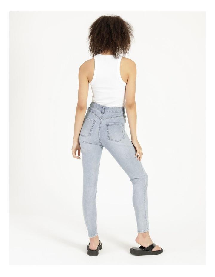 High Waist Light Blue Skinny Jean image 4