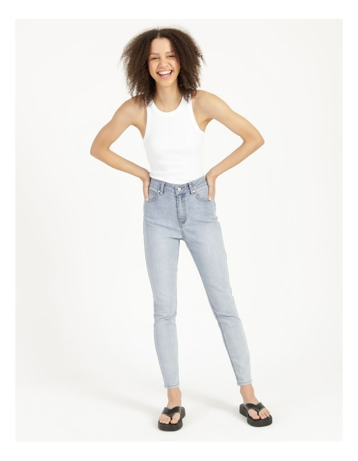 High Waist Light Blue Skinny Jean image 5