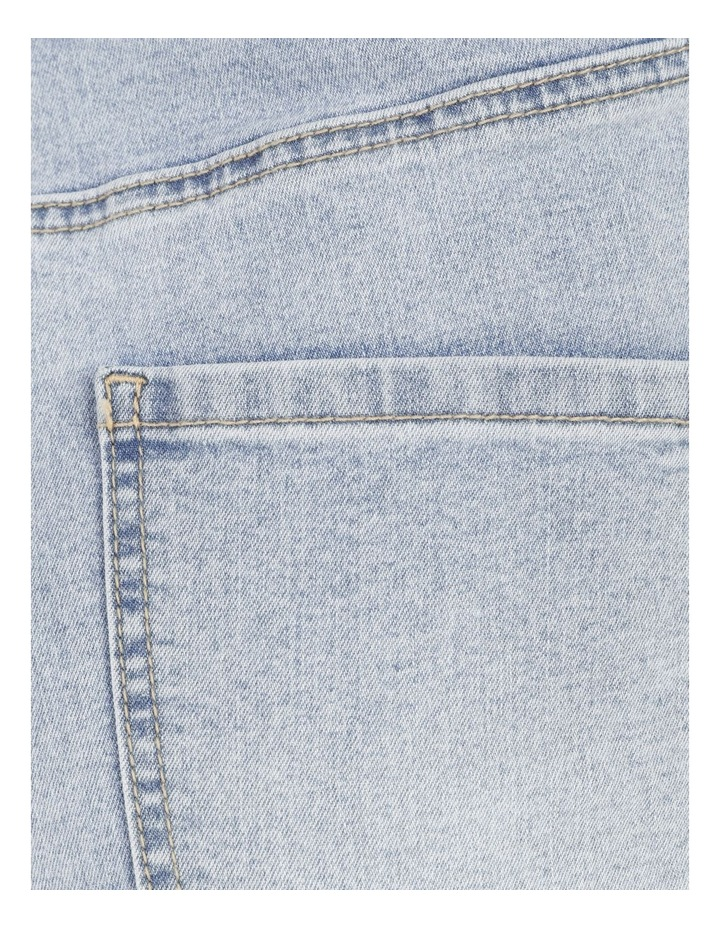 High Waist Light Blue Skinny Jean image 7