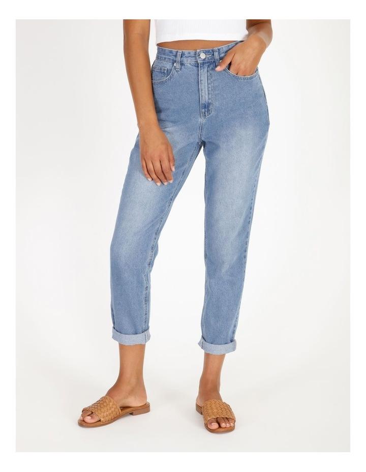 Mom Jeans - Mid Blue image 1