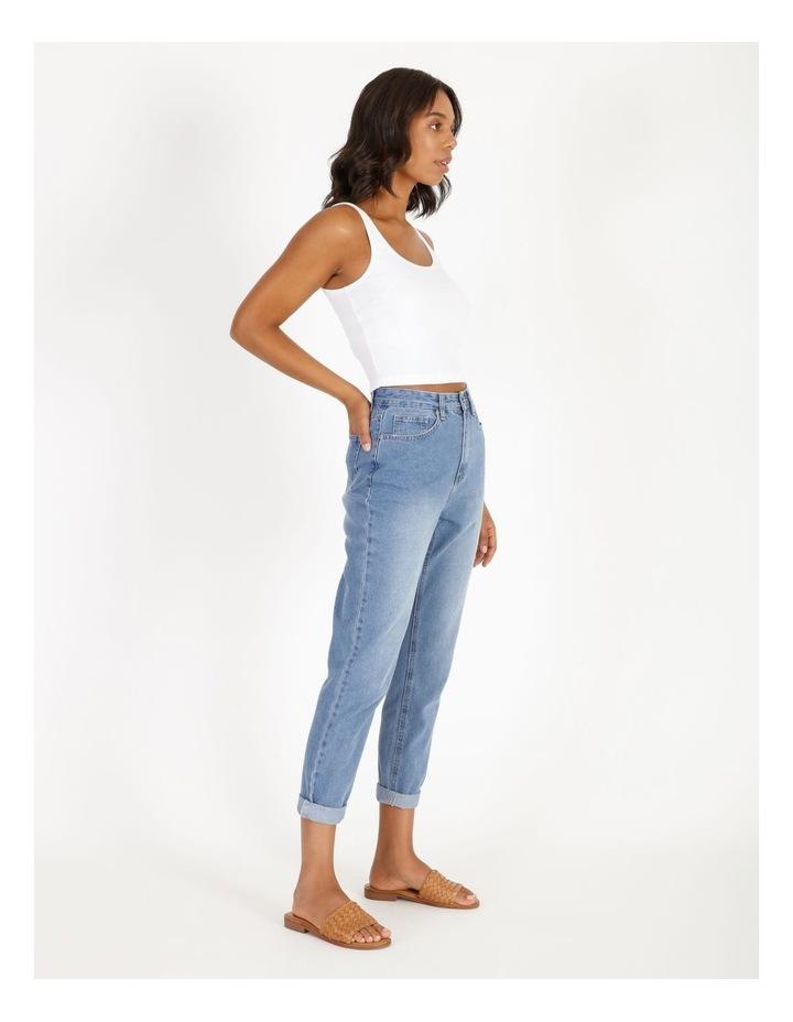 Mom Jeans - Mid Blue image 2