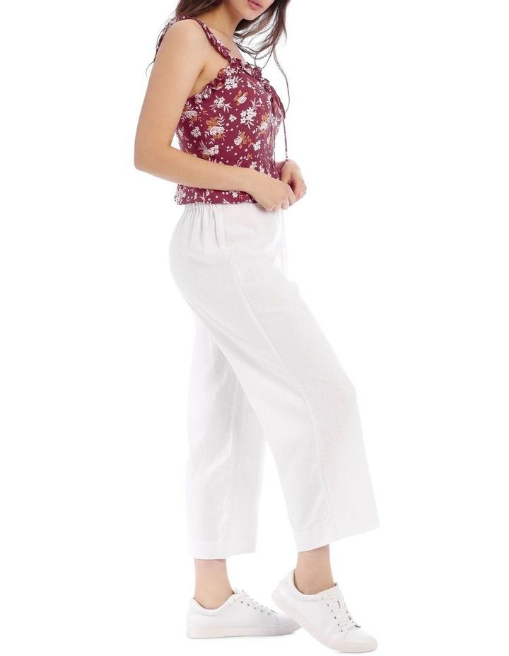 Tie Waist Linen Pant image 2