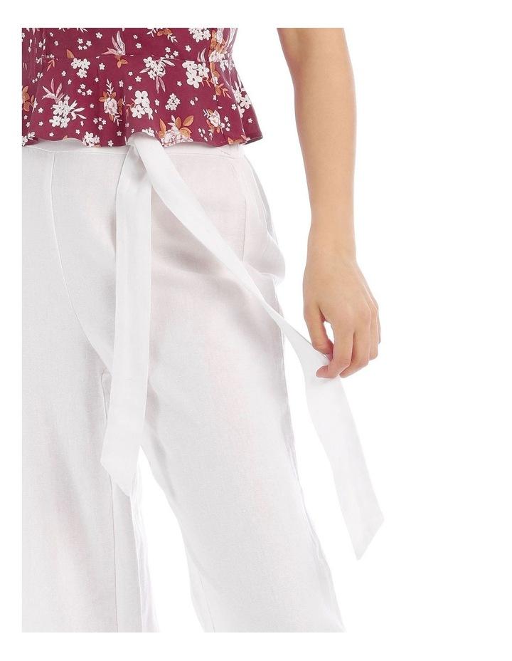Tie Waist Linen Pant image 4