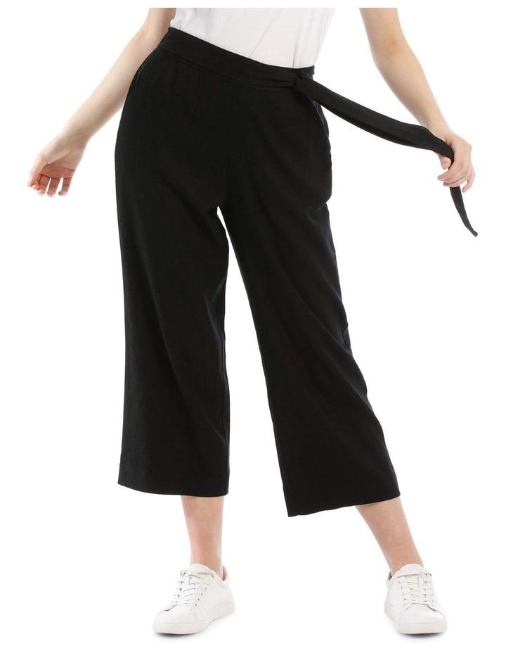Tie Waist Linen Blend Pant image 1