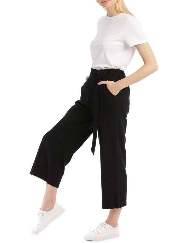 Tie Waist Linen Blend Pant image 2