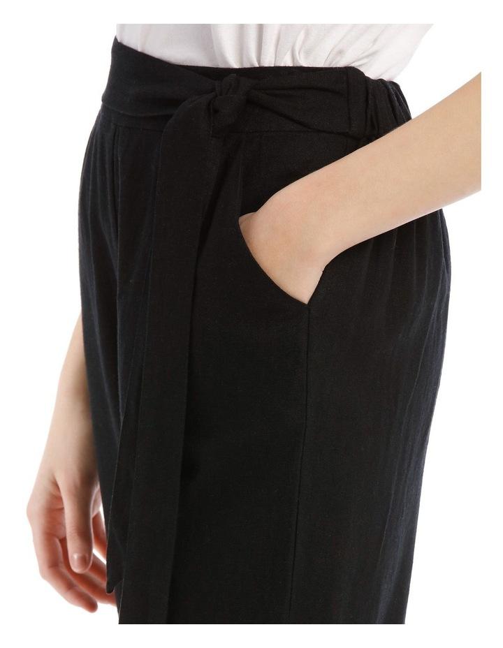 Tie Waist Linen Blend Pant image 4