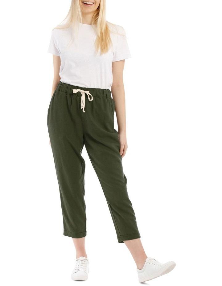 Drawstring Linen Blend Pant image 1