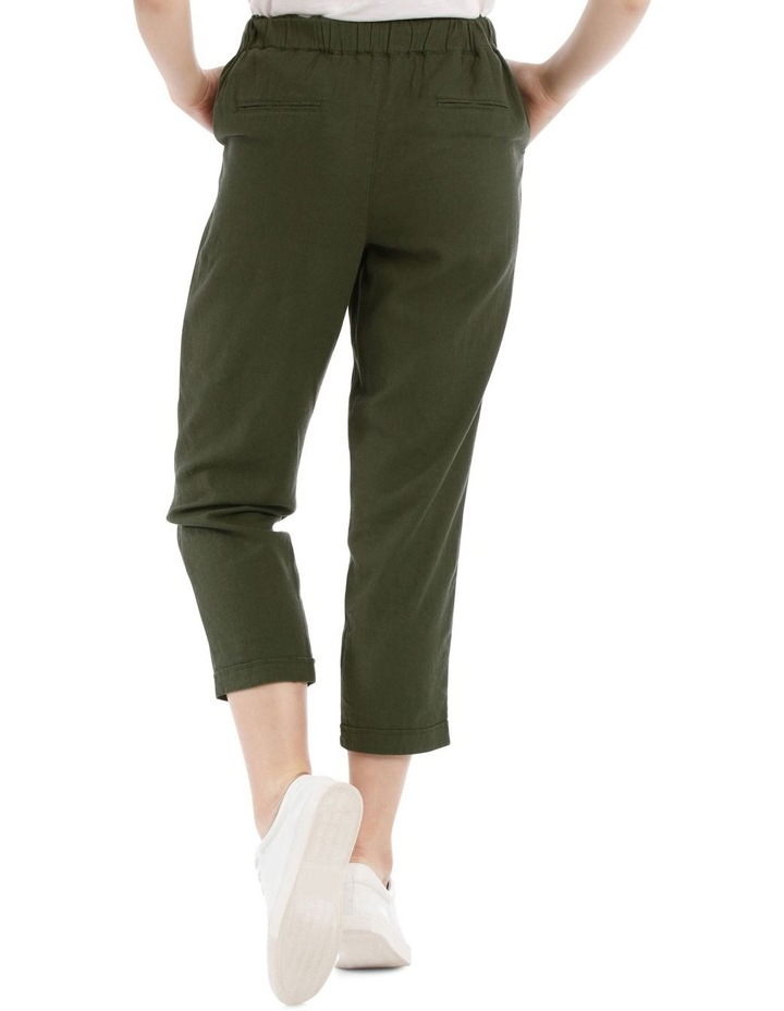 Drawstring Linen Blend Pant image 3