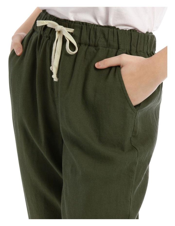 Drawstring Linen Blend Pant image 4
