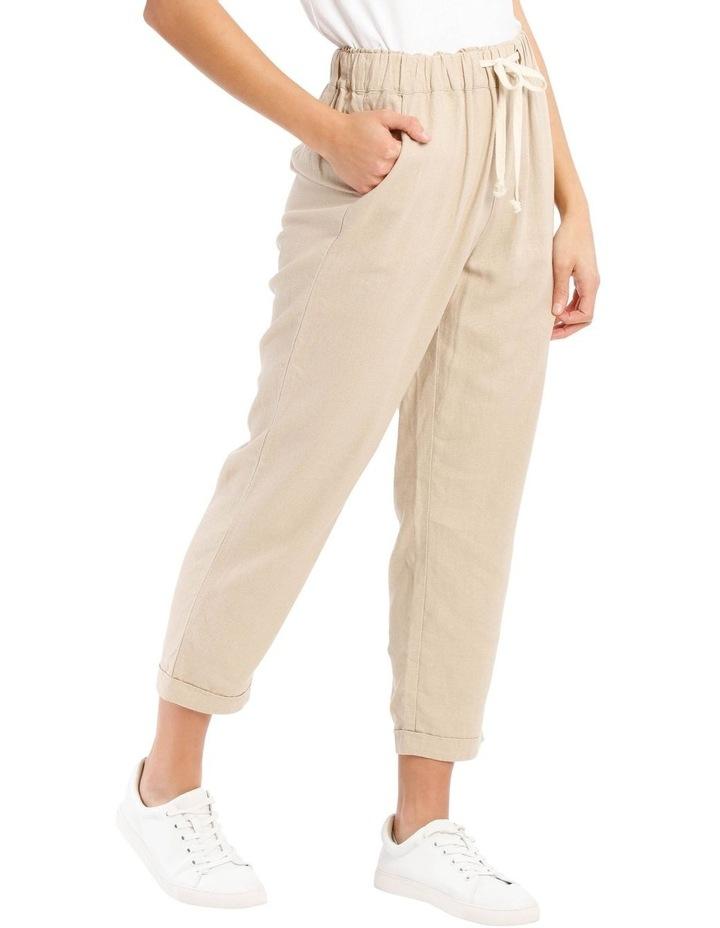 Drawstring Linen Blend Pant image 2