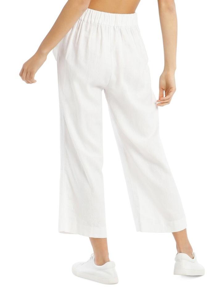 Tie Waist Linen Blend Pant image 3