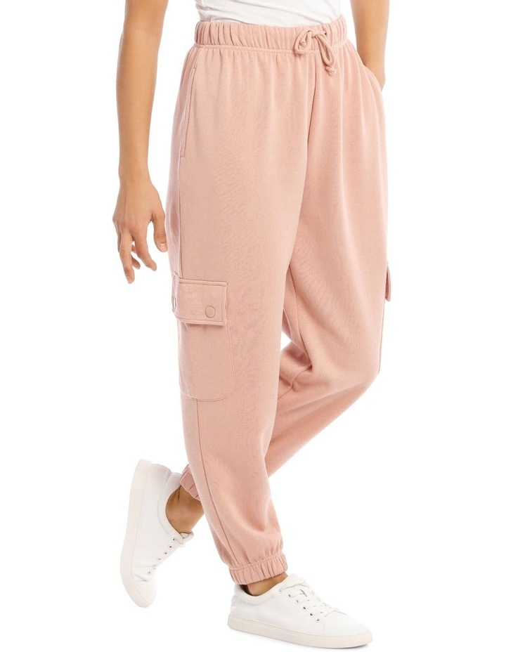 Clay Pink Cargo Track Pant image 2