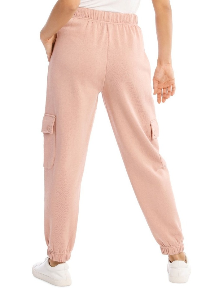 Clay Pink Cargo Track Pant image 3