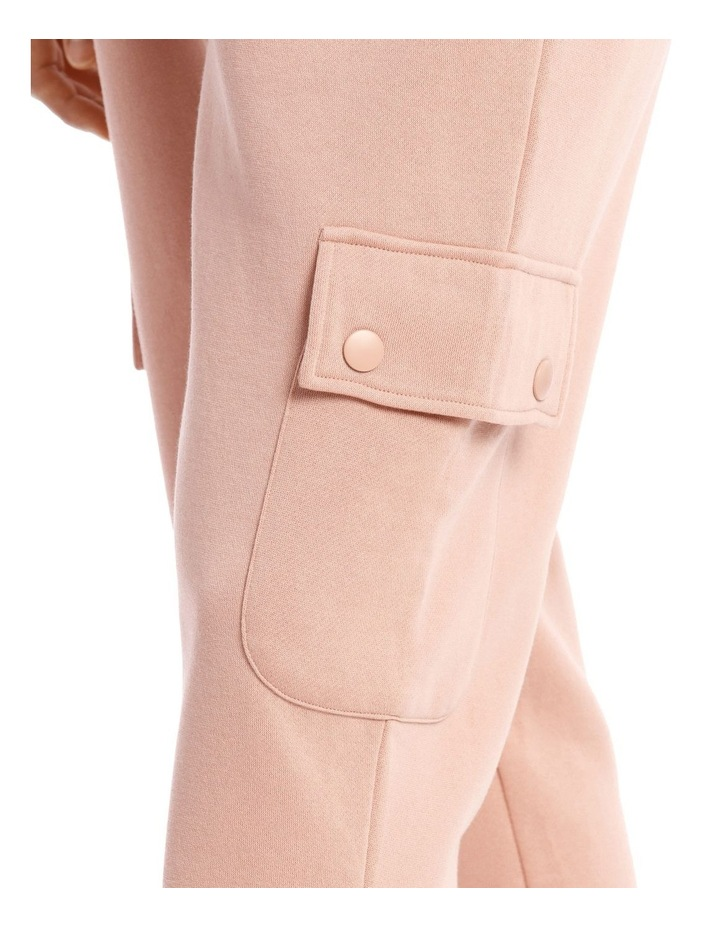 Clay Pink Cargo Track Pant image 4