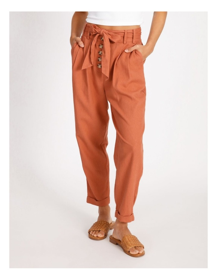 Tie Waist Front Pleated Pant image 1