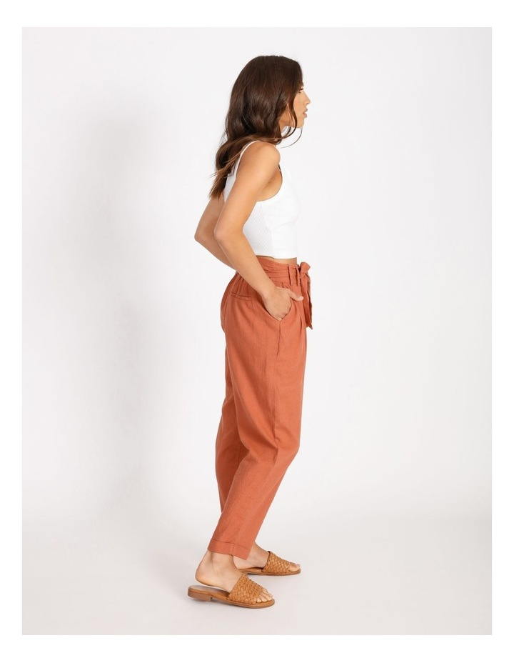 Tie Waist Front Pleated Pant image 2