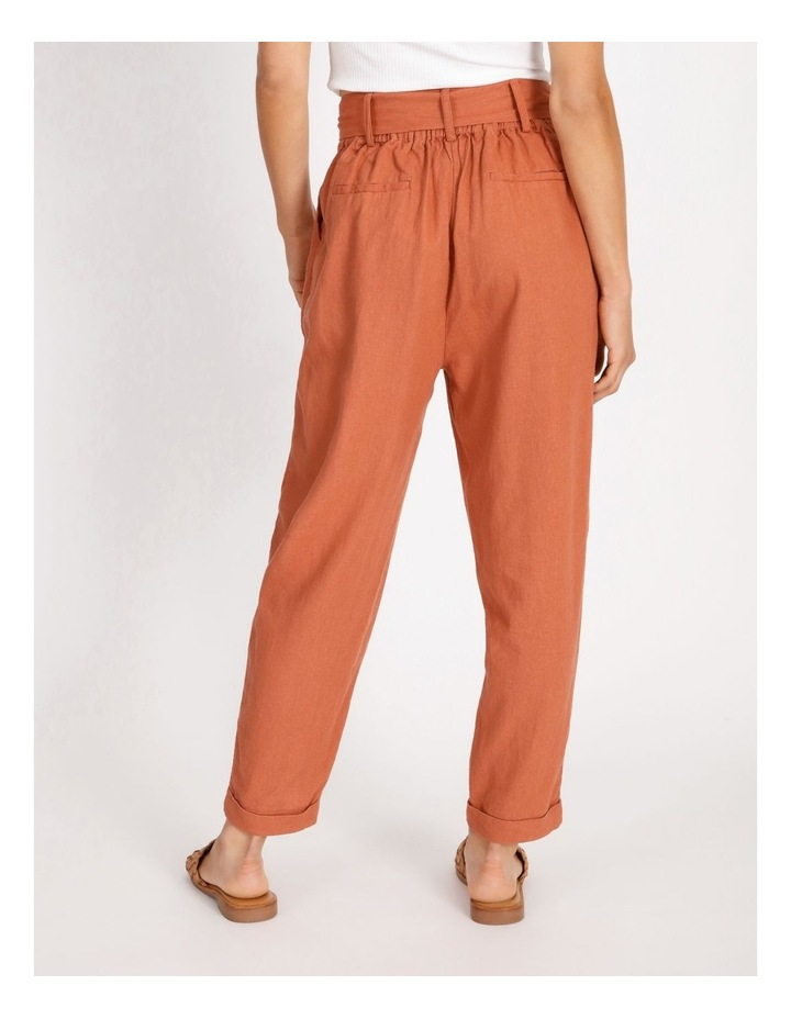 Tie Waist Front Pleated Pant image 3