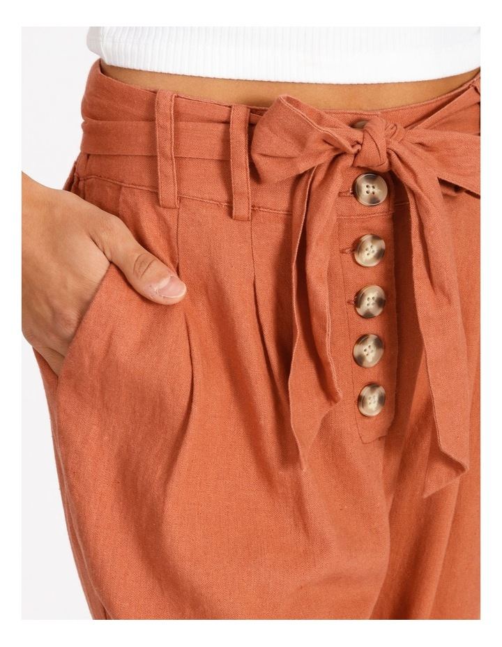 Tie Waist Front Pleated Pant image 4