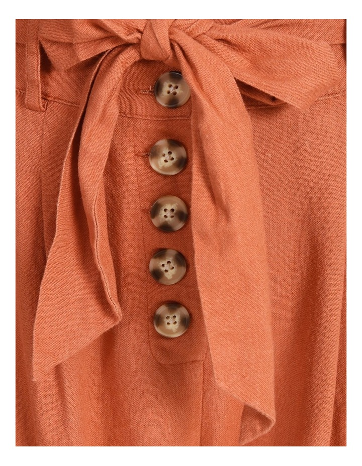Tie Waist Front Pleated Pant image 5