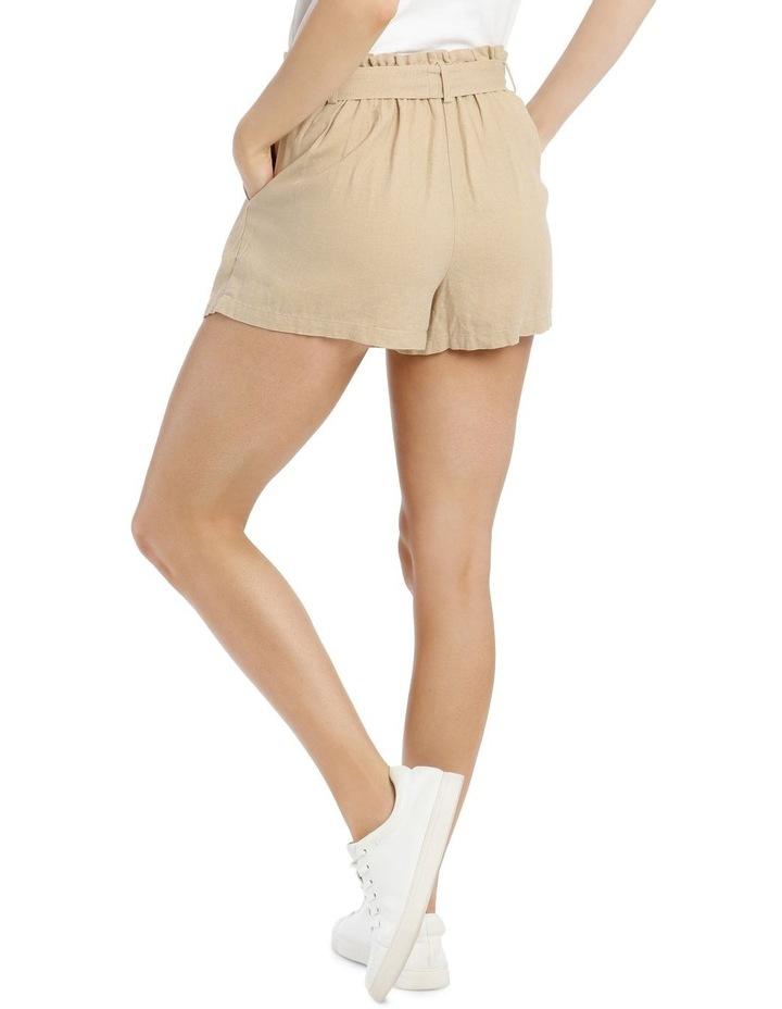 Paperbag Coconut Button Linen Blend Shorts image 3