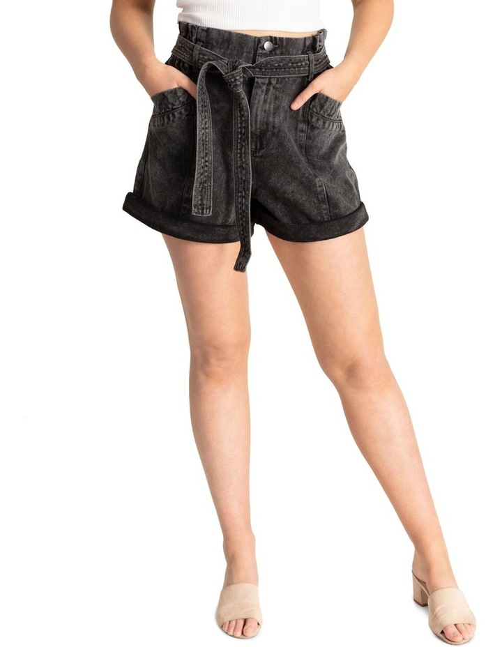 Belted Stitch Detail Shorts image 1