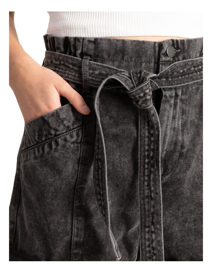 Belted Stitch Detail Shorts image 4