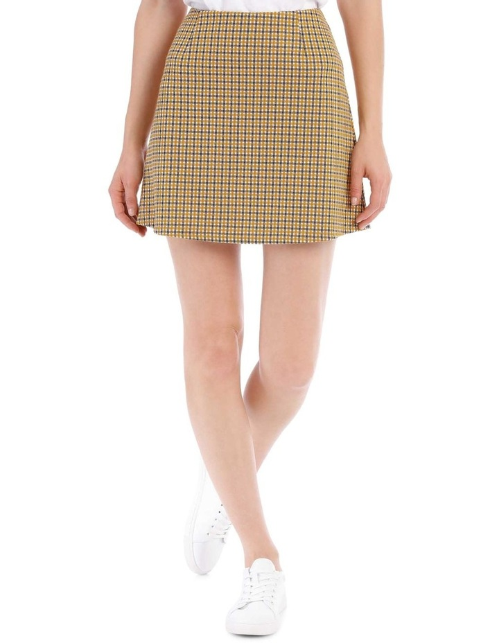 A Line Skirt - Mustard Small Check image 1