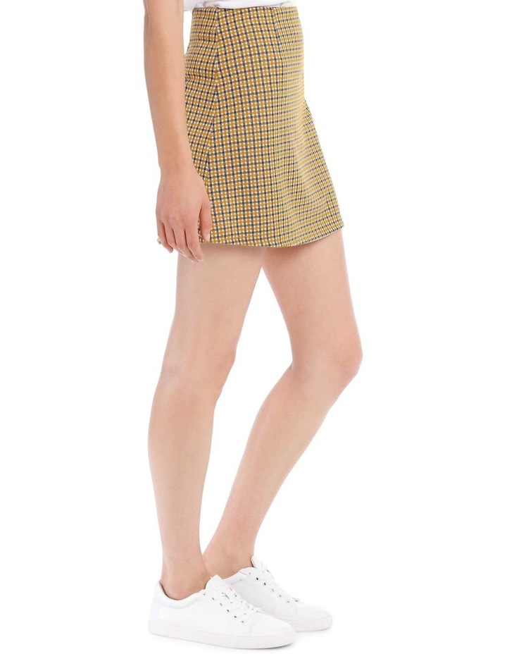 A Line Skirt - Mustard Small Check image 2
