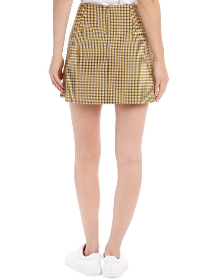 A Line Skirt - Mustard Small Check image 3