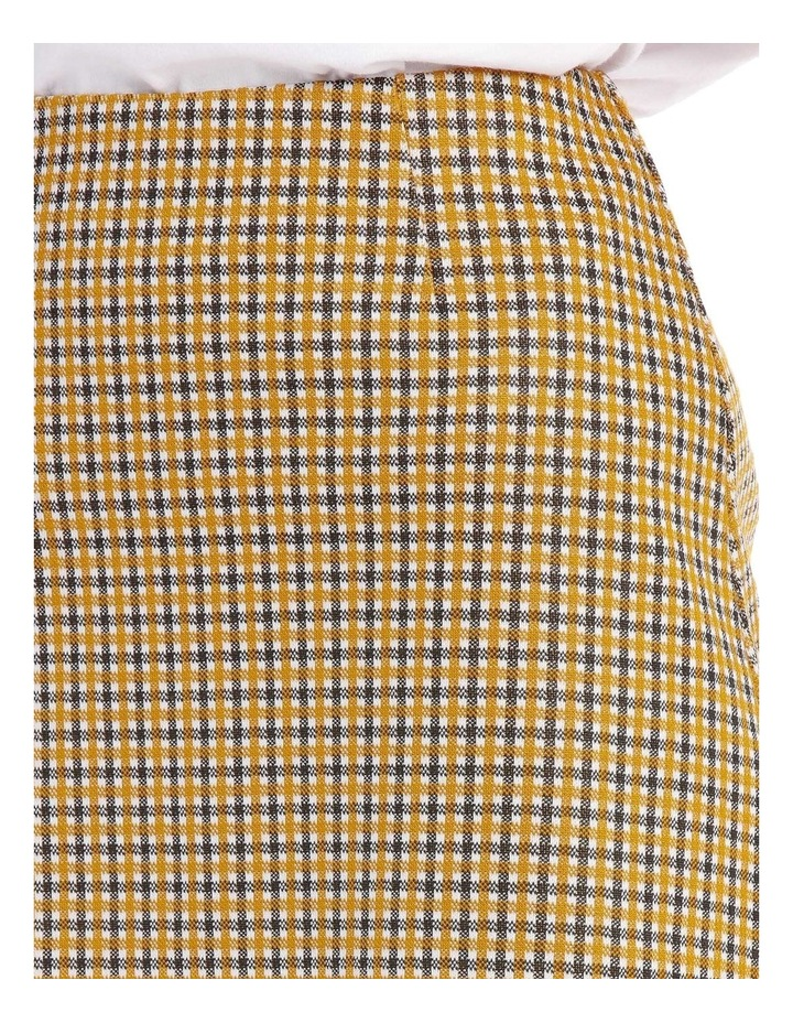 A Line Skirt - Mustard Small Check image 4