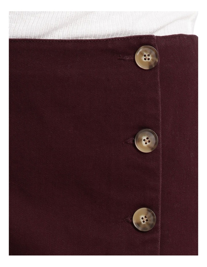 Side Button Detail A Line Skirt image 4