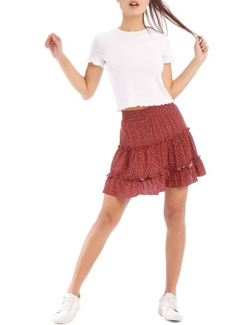 3fef63ed7e Miss Shop Jaguar Taupe Base Ruffle Skirt