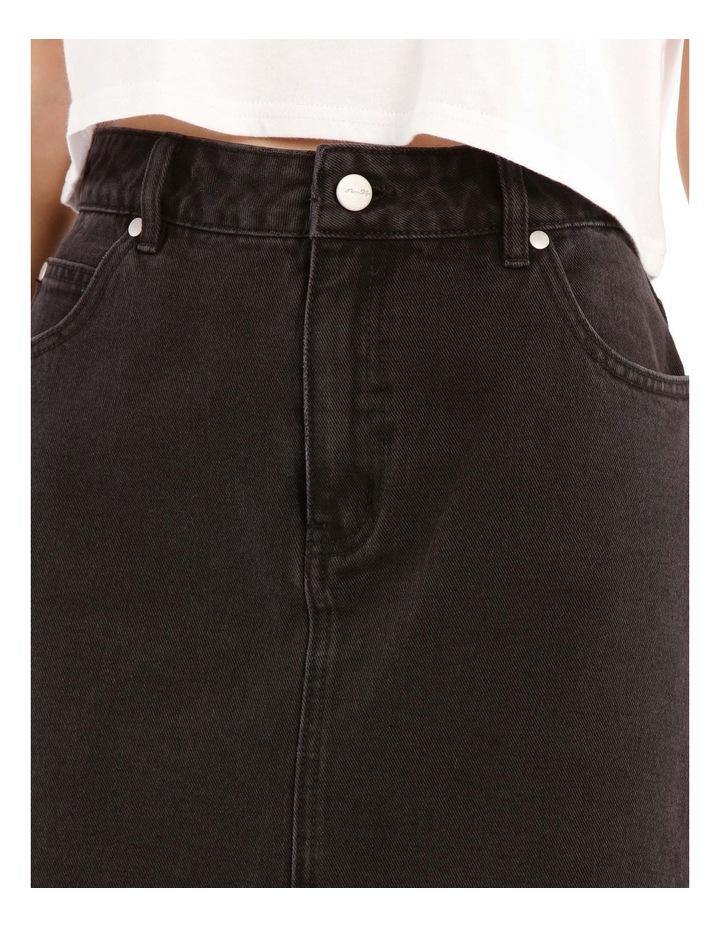 Raw Edge Denim Skirt image 4