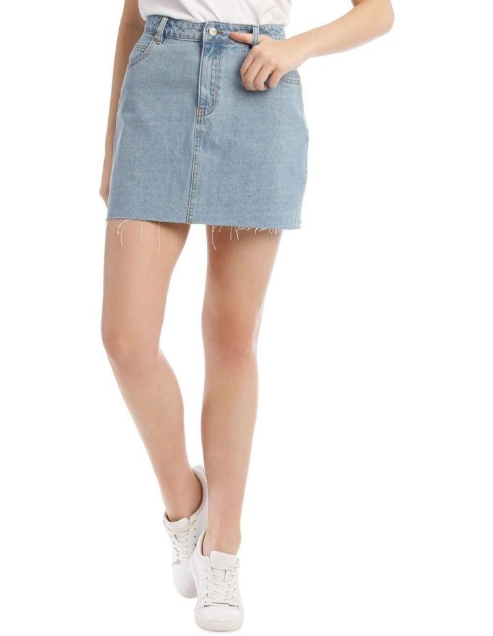 Raw Edge Denim Skirt image 1