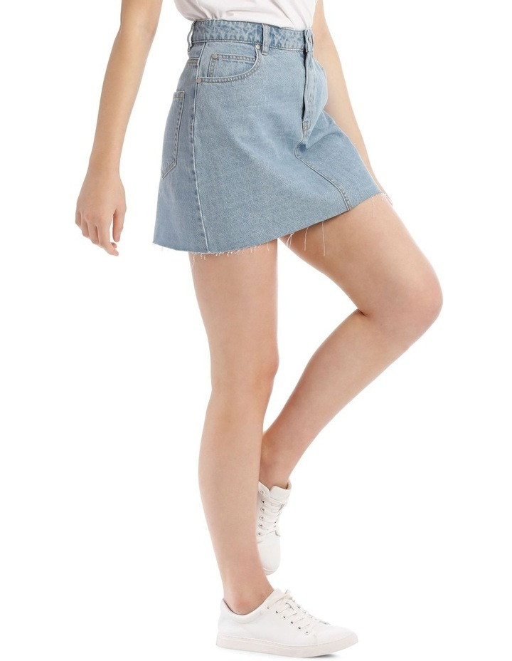 Raw Edge Denim Skirt image 2