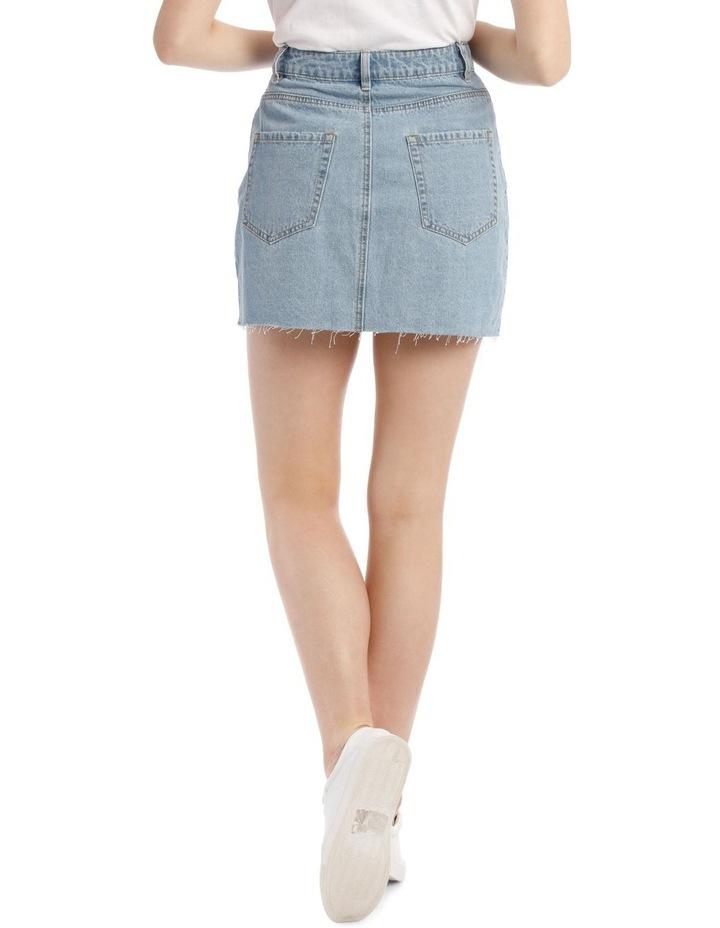 Raw Edge Denim Skirt image 3