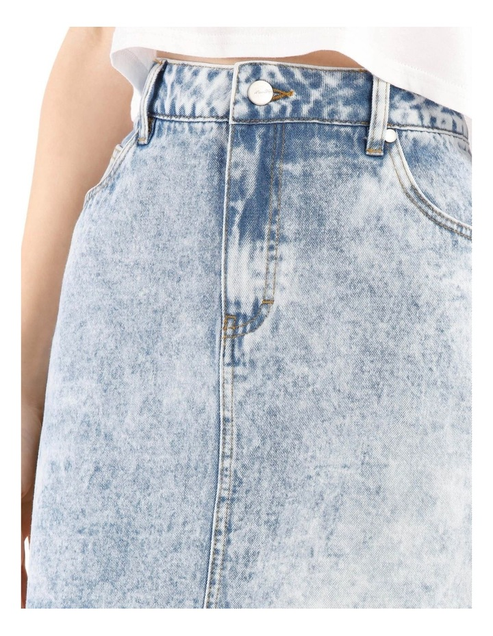 Raw Edge Denim Skirt - Acid Wash image 4