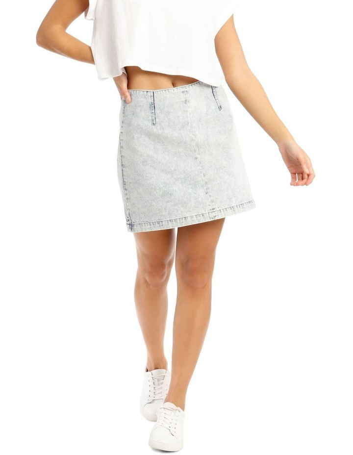 A Line Denim Skirt image 1