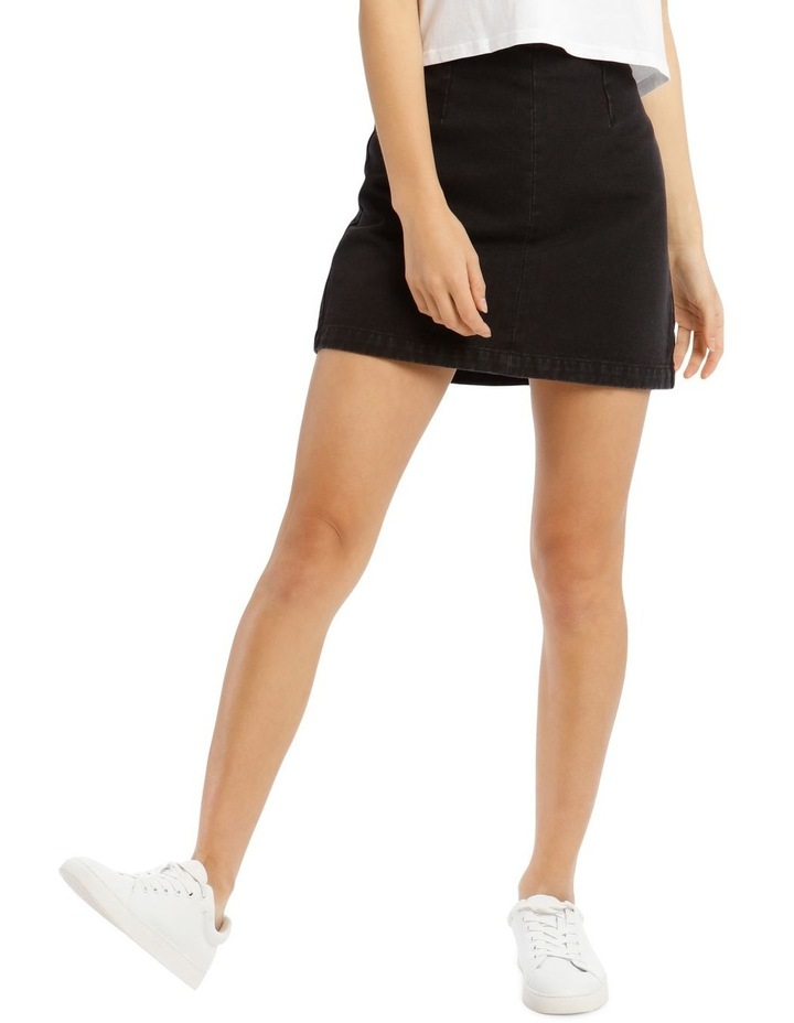 A Line Denim Skirt image 1