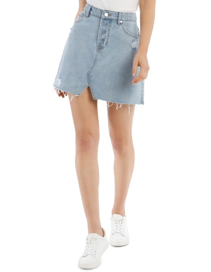 Distressed Denim Skirt image 1