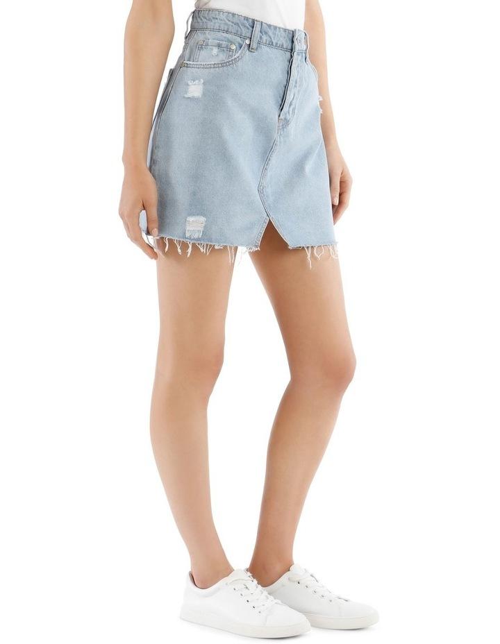 Distressed Denim Skirt image 2
