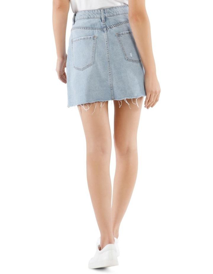 Distressed Denim Skirt image 3