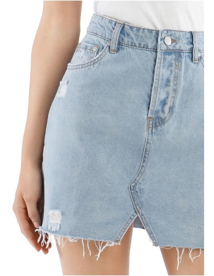 Distressed Denim Skirt image 4