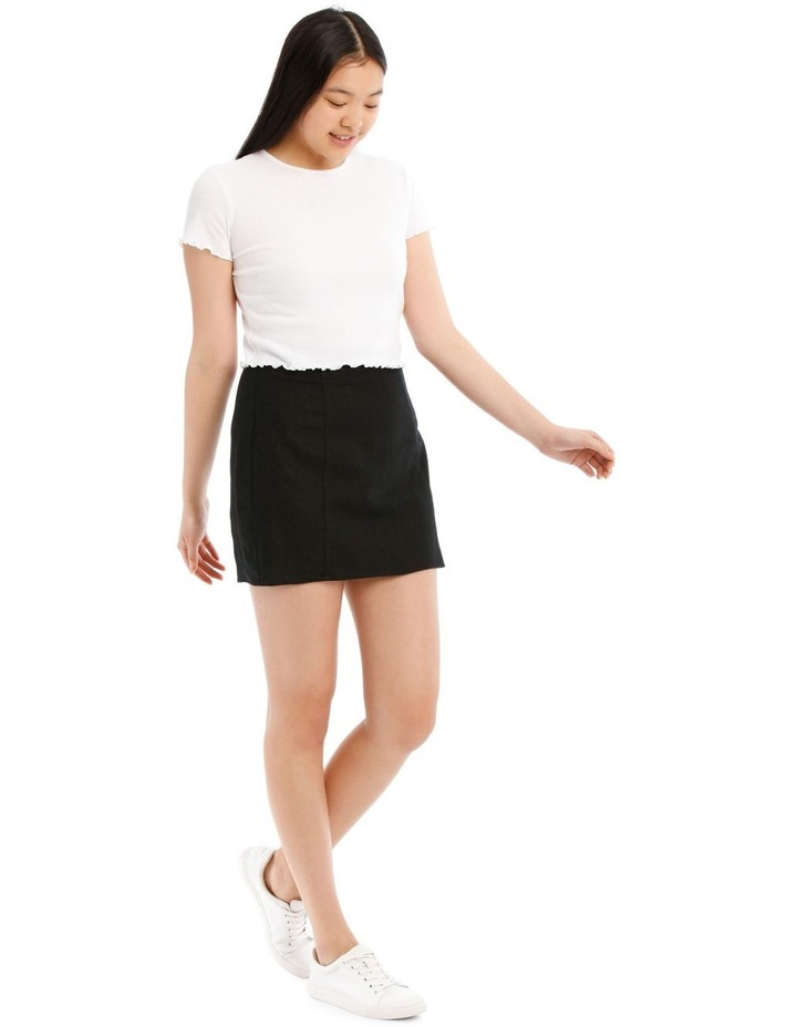 Mini Skirt With Side Split image 2