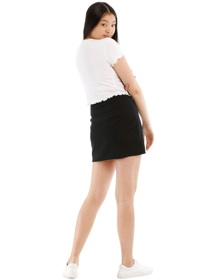 Mini Skirt With Side Split image 3