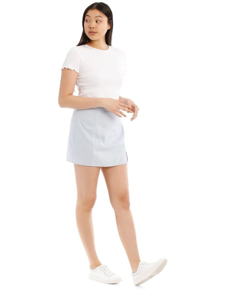 Mini Skirt With Side Split image 2
