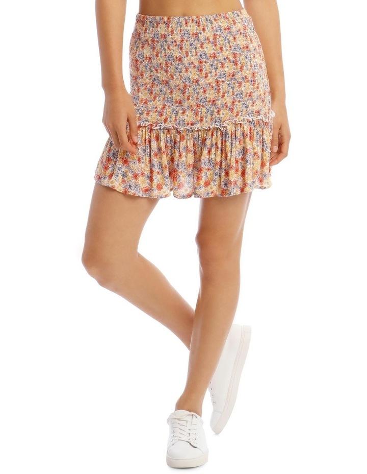 Shirred Skirt - Retro Floral Print image 1