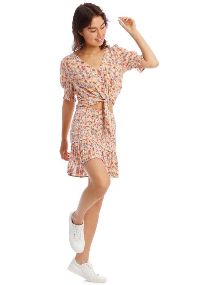 Shirred Skirt - Retro Floral Print image 2